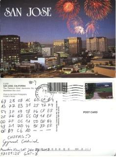 szyfrogram na pocztówce